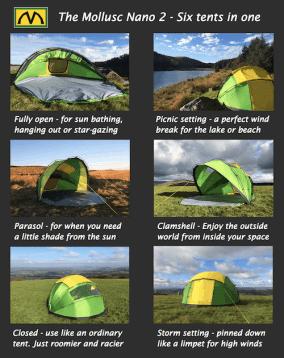 benefits of mollusc tent
