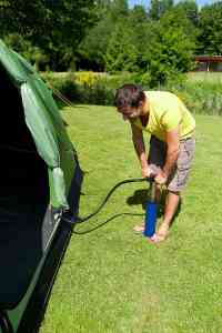 inflating tent