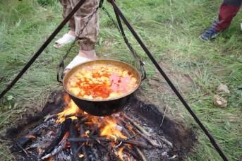 Vegan sausage and bean stew
