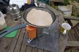 Biolite camping stove cooking