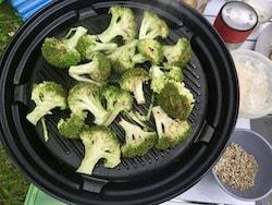 Lemon and chilli griddled broccoli