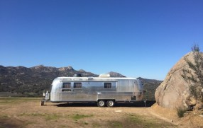 An airstream 'home' in the hills