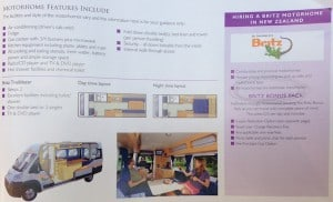 The Trailfinders' brochure showing the Trailblazer layout.
