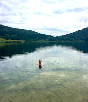 Swimming in Lac de Narlay