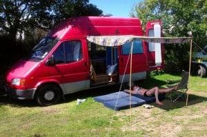 diy campervan transit