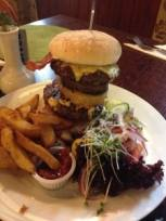 Giant burger at the Wheatsheaf in Low Lorton