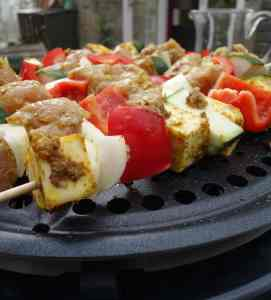 Cobb oven and kebabs