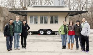 Students build a tiny house