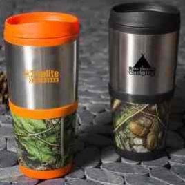Buck-Bulk custom camo mug 16oz. double-wall insulation, stainless steel