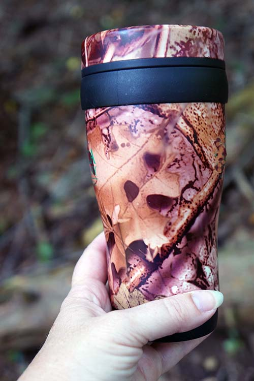 Deer Custom Bulk Camo Travel Mug With Double Wall Insulation