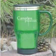 Caribou- Bulk Custom,16oz, stainless lined travel mug with handle