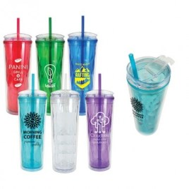 Pika- Bulk Custom Printed 24oz Prism Tumbler with Straw