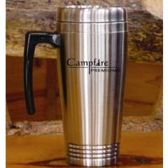 Sturgeon- Custom bulk, Double Walled Stainless Steel Mug w/Screw-on Lid