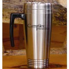 Sturgeon- Custom bulk, Double Walled Stainless Steel Mug w/Screw-on Lid