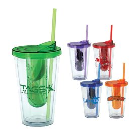 Canary- Bulk Custom Printed 16oz Fruit Infuser Tumbler with Straw