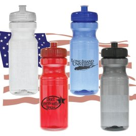 Chipmunk- Bulk Custom Printed 24oz Bike Bottle, MADE IN THE USA