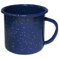 Camp Mug-12oz. Enameled Steel Campfire Mugs, speckled, vintage