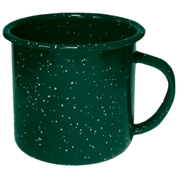 Enameled Steel Campfire Mugs, speckled, vintage, western, tin cups