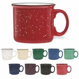 S'More Mug- Bulk Custom Printed 14oz Ceramic Speckled Glaze Camp Mug