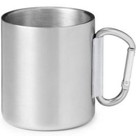 Scout- Bulk Custom Printed 9oz Stainless Steel Camping Carabiner Mug