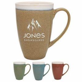 Beech- Bulk Custom Deep Etched 17oz Reactive Glaze Rustic Ceramic Mug