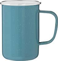 Loon Mug- Bulk Custom Printed 22oz Enameled Steel Campfire Cup with Steel Rim