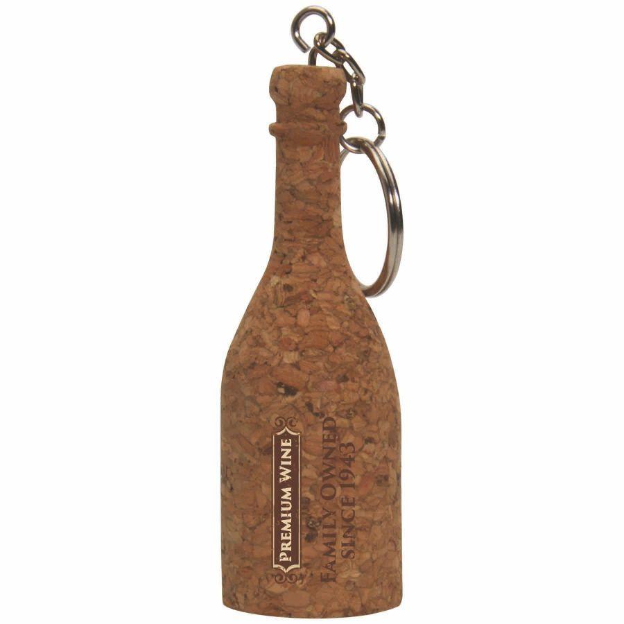 wine bottle keychain