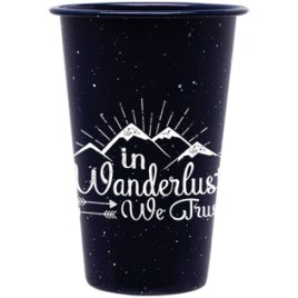 Evangola- Bulk Custom Printed 14oz Powder Coated Carbon Steel Tumbler