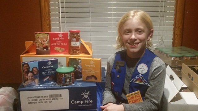 Camp Fire Candy Seller