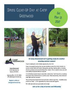 17 CG Spring work weekend flyer - Camp Greenwood