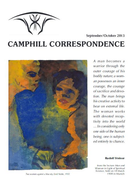 Camphill Correspondence September/October 2013