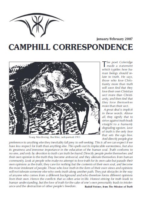 Camphill Correspondence January/February 2007