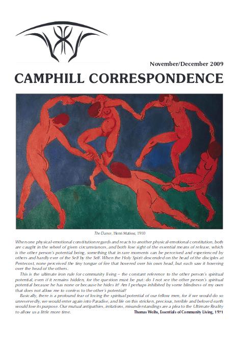 Camphill Correspondence November/December 2009