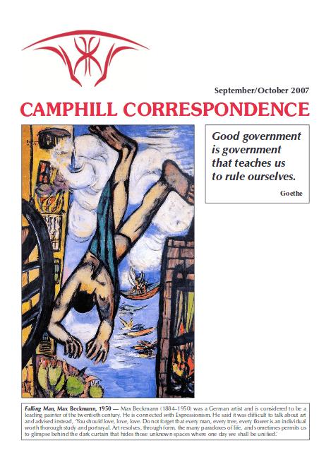 Camphill Correspondence September/October 2007