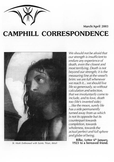 Camphill Correspondence March/April 2003