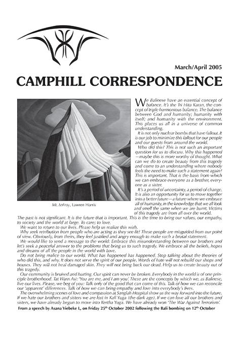 Camphill Correspondence March/April 2005