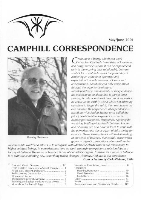 Camphill Correspondence May/June 2001