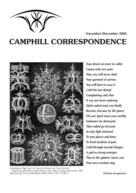 Camphill Correspondence November/December 2004