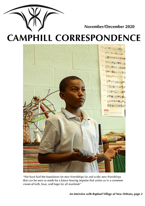 Camphill Correspondence November/December 2020