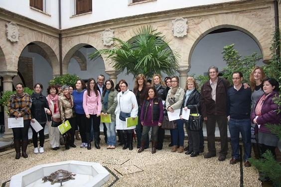 Alumnos de Andújar participantes en el curso.