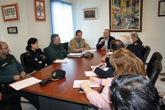 Reunión de la Comisión de Seguimiento mantenida en el Palacio Municipal de Andújar.