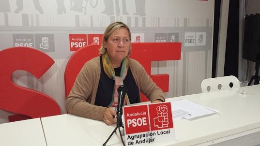 La concejala del Grupo Municipal Socialista de Andújar, Pepa Jurado.