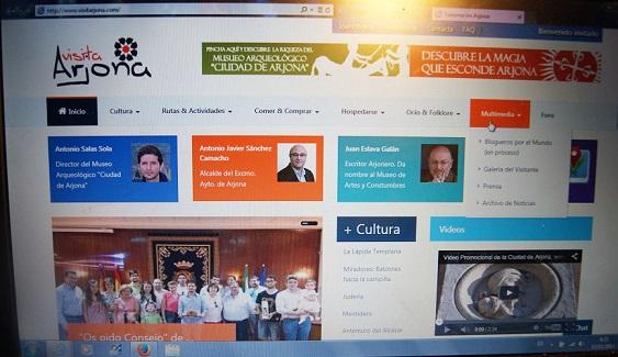 Página de presentación de la web www.visitarjona.com