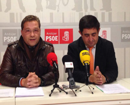 Francisco Huertas y Francisco Reyes en la rueda de prensa.
