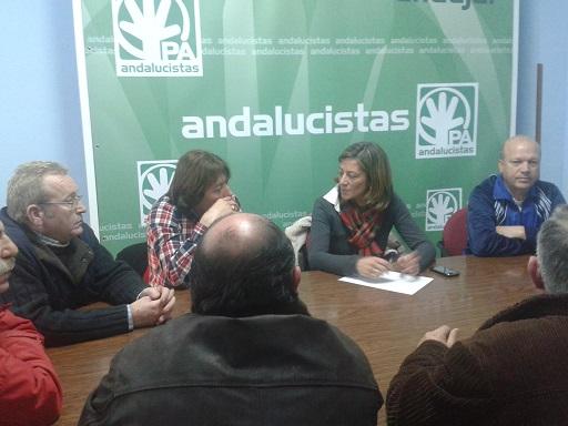 Reunión del PA con el colectivo Fénix de desempleados de Andújar.