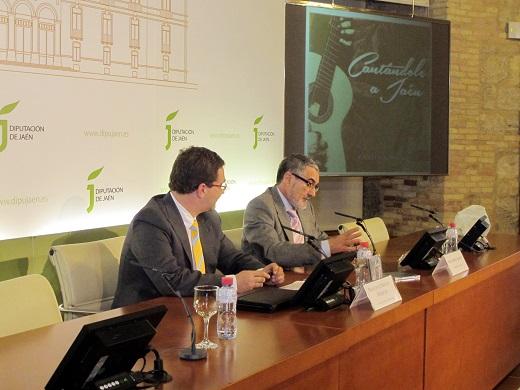 """Francisco Huertas y José Andrés Anguita presentan el CD """"Cantándole a Jáen""""."""