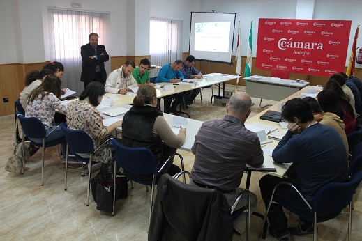 Alumnos asistentes al curso organizado por la Cámara de Comercio de Andújar.