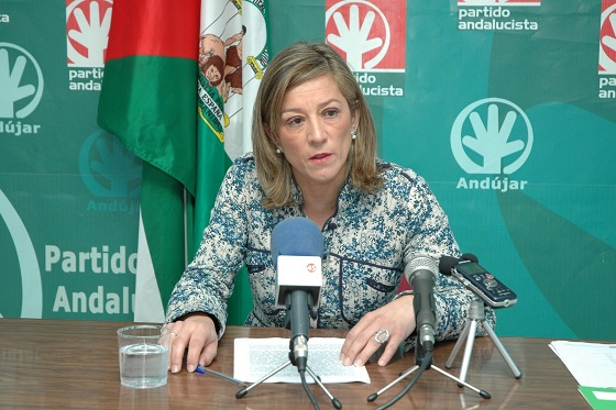 La portavoz andalucista en el Ayuntamiento de Andújar, Encarna Camacho.
