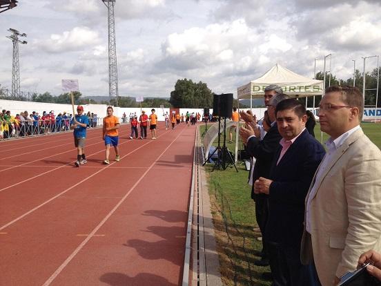 Francisco Reyes y Francisco Huertas, en la apertura de los juegos.