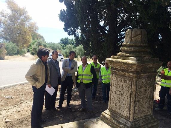 Visita a los trabajos para el traslado al casco antiguo de Arjona.